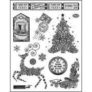 Набор силиконовых штампов Рождественская елка