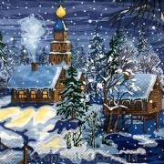 """Салфетка для декупажа """"Напередодні Різдва"""""""