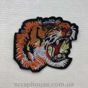 """Термонаклейка на одежду, модный термопатч """"Голова тигра"""" , на клеевой основе, размер 7х6см."""