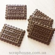 Шармик для слаймов Печенье шоколадное. Размер 2,5х1,6 см