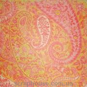 Бумага для скрапбукинга Artemio Узоры розовый огурцы на желтом