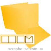 Заготовка для открытки квадратная желтая