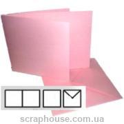 Заготовка для открытки квадратная розовая, размер 13,5х13,5 см