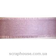 Декоративная лента-рогожка сиреневая