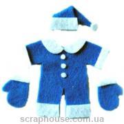 Аппликация Детский новогодний костюм синий