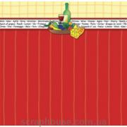 Бумага для скрапбукинга URSUS Вино и фрукты