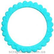 Рамка для фото круглая голубая для скрапбукинга