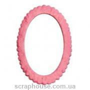 Рамка для фото овальная розовая