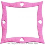 Рамка для фото квадратная изогнутая розовая, для скрапбукинга