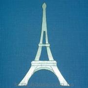 Эйфелева башня серебряная аппликация из картона