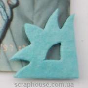 Уголки для фото Цветочки голубые