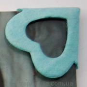 Уголки для фото Сердечки голубые