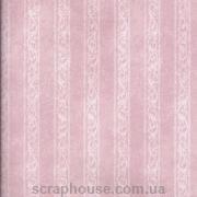 Бумага для скрапбукинга Полоски и узоры розовая
