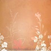 Бумага для скрапбукинга My Mind's eye Antic Floral Ростки