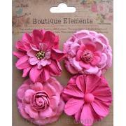 Набор винтажных розовых цветов