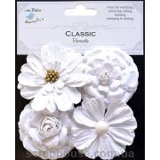 Набор винтажных белых цветов