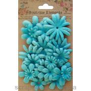 Набор цветов голубые Весенний сад