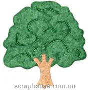 Бумажная аппликация Дерево
