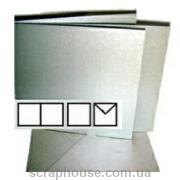 Заготовка для открытки квадратная серебряная