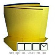 Заготовка для открытки квадратная золотая, размер 13,5х13,5 см