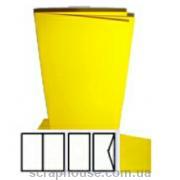 Заготовка для открытки желтая, размер 10,5х21 см