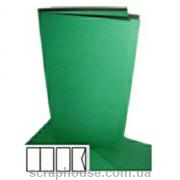 Заготовка для открытки зеленая, размер 10,5х21 см