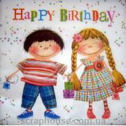 "Салфетка для декупажа ""Happy Birthday"""