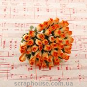 Бутоны роз ORANGE/CREAM