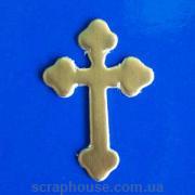 Аппликация Крестик золотой