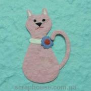 Аппликация Кошка розовая