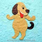 Аппликация Веселая собачка