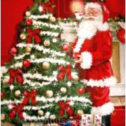 """Салфетка для декупажа """"Санта и ёлка""""."""
