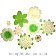 Набор цветов pink & green 10 шт