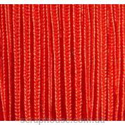 Сутажный шнур красный, из шёлковой нити, 2мм