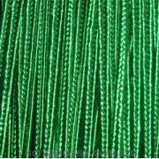 Сутажный шнур зеленый, из шёлковой нити, 2мм