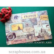 Декоративная открытка Путешествие для скрапбукинга