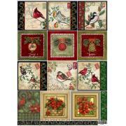 Декупажная карта Новогодние открытки - самые красивые карты!