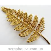 Золотой листик декоративный