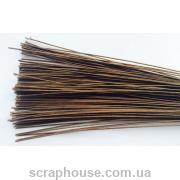 Флористическая проволока коричневая, длина 35 см, d=0,1см.