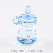 Бутылка детская декоративная акриловая голубая объёмная