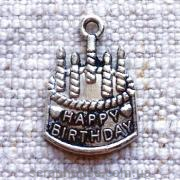 Металлическое украшение Торт Birtyday