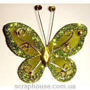 Бабочка декоративная со стразами