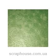 "Картон дизайнерский ""Flower Brocade metallic"" Folia зеленый"