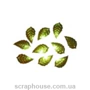 Пайетки Листики зеленые