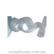Лента из органзы нежно голубая, ширина 1,4 см