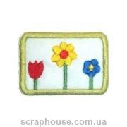 Тканевая аппликация Цветы с тюльпаном