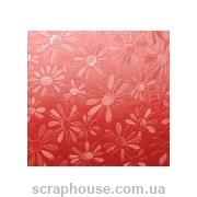 "Картон дизайнерский ""Marguerite metallic"" Folia бордо"