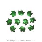 Листики кленовые зеленые
