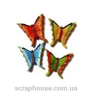 Керамическая аппликация Бабочки разноцветные