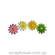 Керамические аппликации Ромашки разноцветные